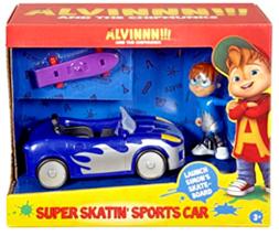 Fisher-Price Alvin and the Chipmunks Super Skatin' Sports Car w Simon ac... - $29.95