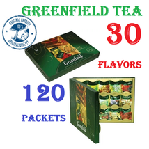 GREENFIELD TEA 30 flavors -- 120 packets GIFT  packaging -- black, green... - $19.70