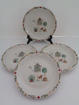 "Thomson Pottery China BIRDHOUSE Salad Plate 7 1/4"" (Set of 4) D/C 2006 - $18.69"