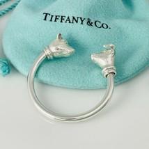 Tiffany & Co Sterling Silver Stock Market Bull Bear Key Ring - £207.89 GBP