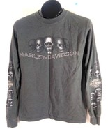 HARLEY DAVIDSON T-SHIRT SKULLS GREY GRIZZLY BEAR GRAND TETON SMALL 34-36... - $22.99