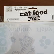 """Cat Food Mat, Litter Box Mat, Pet Mat, Plastic, 20""""x12"""", Meow Kitty image 6"""