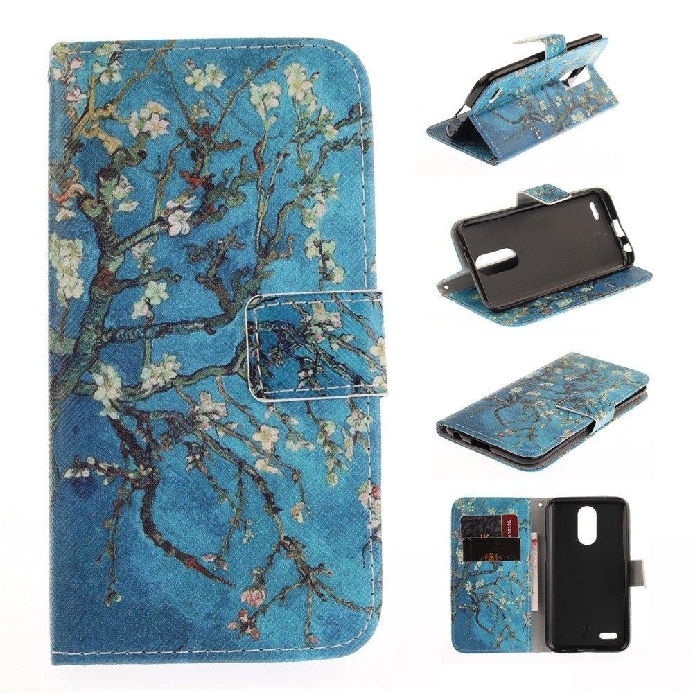 LG M250N case,LG K20 Plus case,LG K10 2017 case,XYX [Apricot Blossom Tree] PU Le