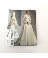 Vogue Bridal Pattern V2979 Siz 6 8 10 Wedding Dress Fitted Contrast Top ... - $15.99