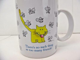 "Cat & Mice Hallmark Coffee Mug ""There's No Such Thing as too Many Friends!"" - $13.98"