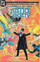 America vs The Justice Society Comic Book #3 DC Comics 1985 VFN/NEAR MIN... - $6.89