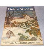 Field and Stream Outdoor Sporting Magazine January 1950 Budweiser Pontiac - $9.95