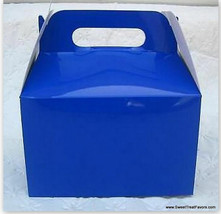 NAVY BLUE Party Supplies BOXES Birthday Decoration GABLE Loots x12 Goody... - $12.82