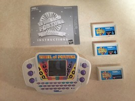 Wheel of Fortune Electronic Handheld Game 2003 Hasbro With Cartridges/Ma... - $13.45