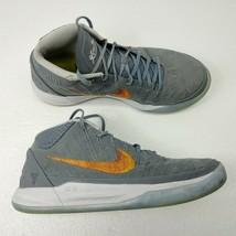 Nike Mens Kobe AD Basketball Shoes Sz 9.5 Chrome Habanero Gray 922482-00... - $46.71