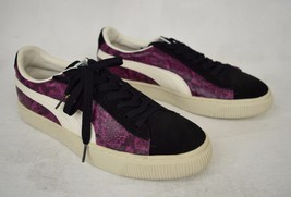 Puma Shoes Reptile Lo Purple Snake Black Dahlia Sneakers 9 Mens 344199 0... - $49.45