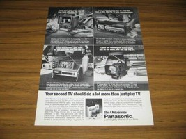 1979 Print Ad Panasonic Outsiders Portable TV's Television 4 Models Shown - $11.59