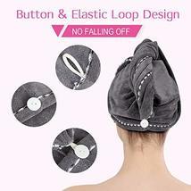 Hair Towel Wrap Turban Microfiber Hair Drying Towels, Quick Magic Hair Dry Hat C image 5