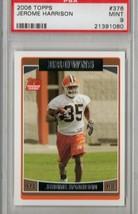 2006 Topps Jerome Harrison #376 PSA 9 P510 - $4.60