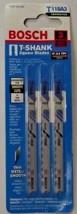 """BOSCH T118A3 3"""" 17-24 TPI T-Shank Jigsaw Blade 3 Pack Swiss - $3.47"""