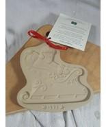 Vtg Brown Bag Cookie Art Mold 1993 Christmas Santa's Sleigh Second Small... - $13.85