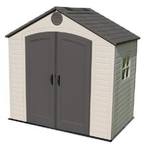 Outdoor Storage Shed Garden Cabinet Container 8 x 5 Ft Steel Backyard Ya... - $1,570.45