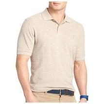IZOD Men's Short Sleeve Solid Heritage Pique Polo, Sandy Heather - $14.99