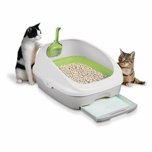 Cat Litter Box Starter Kit Cleaning Scoop Training Trainer Set Pets Tidy... - $60.20