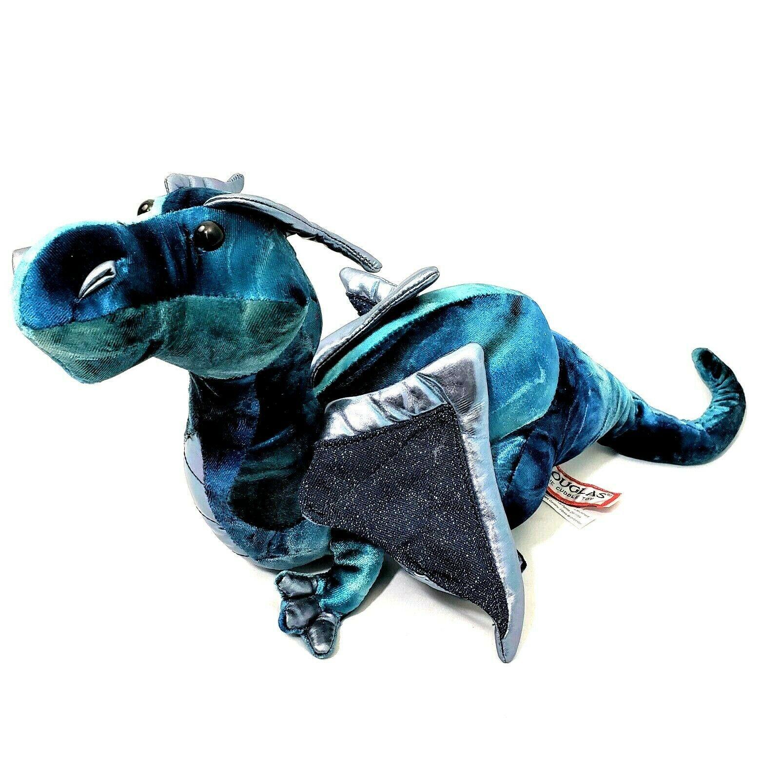 Douglas Cuddle Toy Jade Blue Dragon Plush Stuffed 729