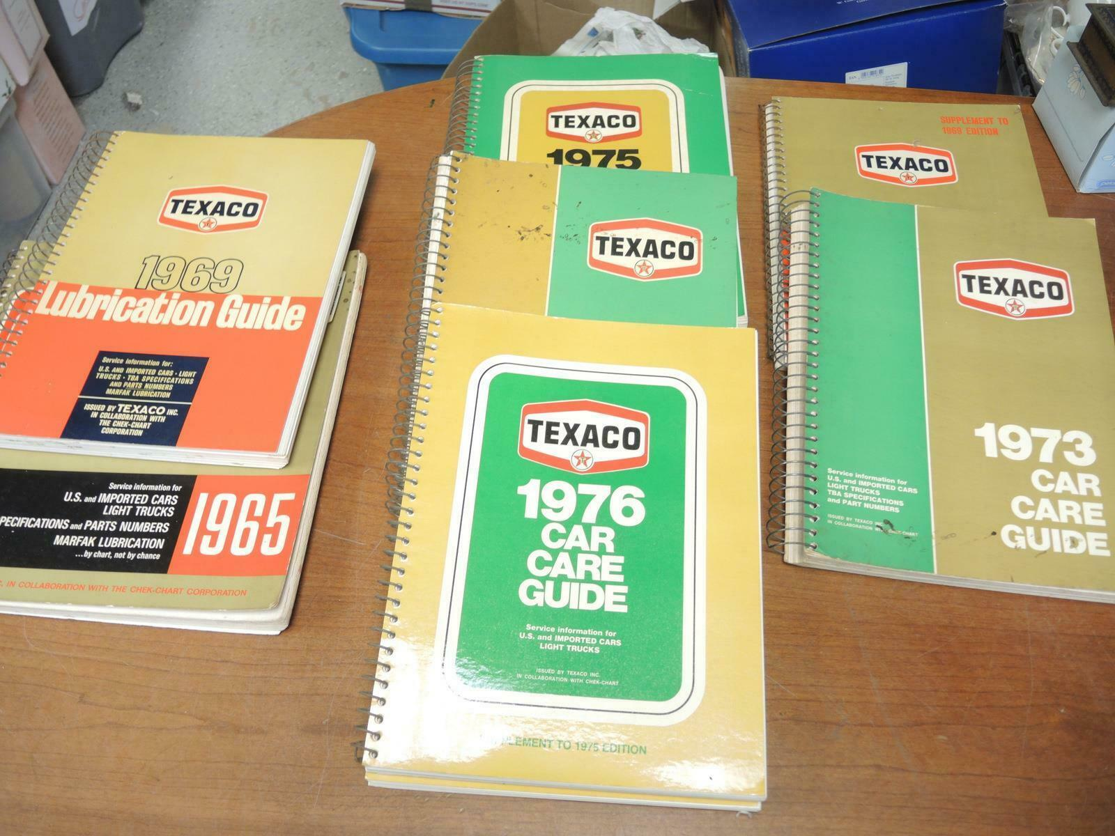 Primary image for Eight 1960's and 1970's Vintage Texaco Lubrication Guides