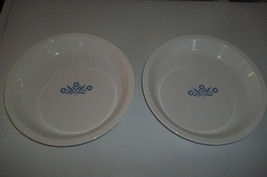 "Pair of 9"" Corning Ware Cornflower Pie Plate P-309 - $17.98"