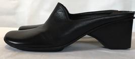 Via Spiga Mules Women's Size 6 Black Leather Comfort Wedge Heel Slip On ... - $35.57