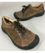 Keen Womens 9.5US 40EU Brown Suede Red Stitching Walking Shoes  - $35.77