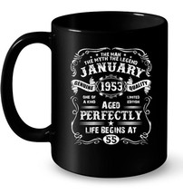 Mens January 1953 Legend Life Begins At 65th Birthday Ceramic Mug - $13.99+