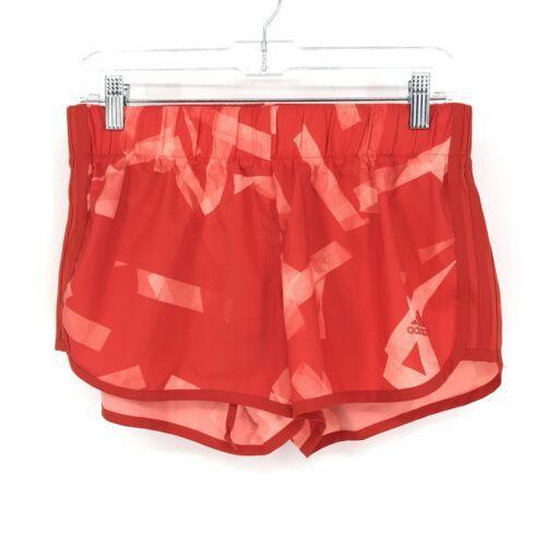 Adidas Donna Activewear Pantaloncini Corsa Misura Piccolo 3 'Rosso Stampa Tirare
