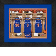 Personalized New York Knicks 12 x 16 Locker Room Framed Print - $63.95