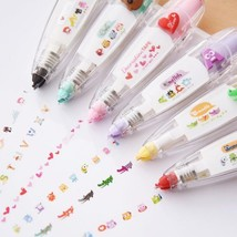 Kawaii Animals Press Type Decorative Correction Tape School Supplies - $4.79