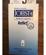 JOBST Relief 15-20 mmHg Compression Stockings Closed Toe XL Black - $18.99