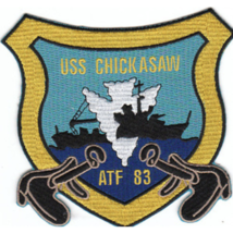"5"" NAVY USS ATF-83 CHICKASAW EMBROIDERED PATCH - $23.74"