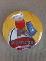 "STUART LITTLE MOVIE PROMO 2 1/2"" WIDE ROUND PINBACK BUTTON 1999, GREAT C... - $11.88"