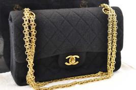 CHANEL Canvas Matelasse 23 Shoulder Bag Black CC Auth 3638 - $1,680.00