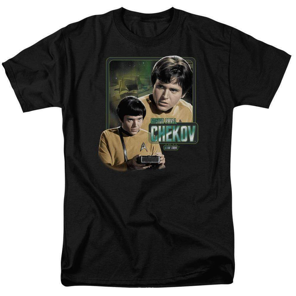 Star Trek T-shirt Pavel Chekov Retro 60's The Original Series graphic tee CBS569