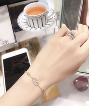 Auth NEW Christian Dior CLAIR D LUNE GOLD Crystal Pearl BRACELET  image 13