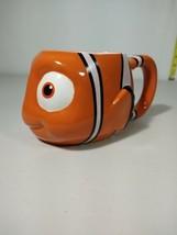 Disney Store Pixar Finding Nemo Coffee Mug Clown Fish Sculptured Orange 3D - $17.99
