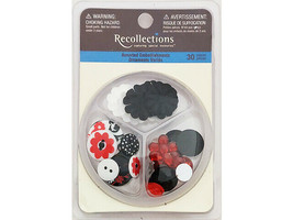 Recollections Assorted Embellishments, Flowers, Buttons, Bling #101177