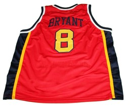 Kobe Bryant #8 McDonald's All American Basketball Jersey Red Any Size image 4
