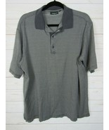 Bobby Jones Mens Short Sleeve Army Green Checkered Polo Shirt Size M  W644 - $11.99