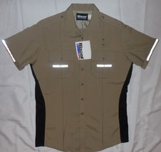 Blauer Street Gear SS Police Fireman Uniform Shirt SuperShirt Taupe L 8916 - $40.08