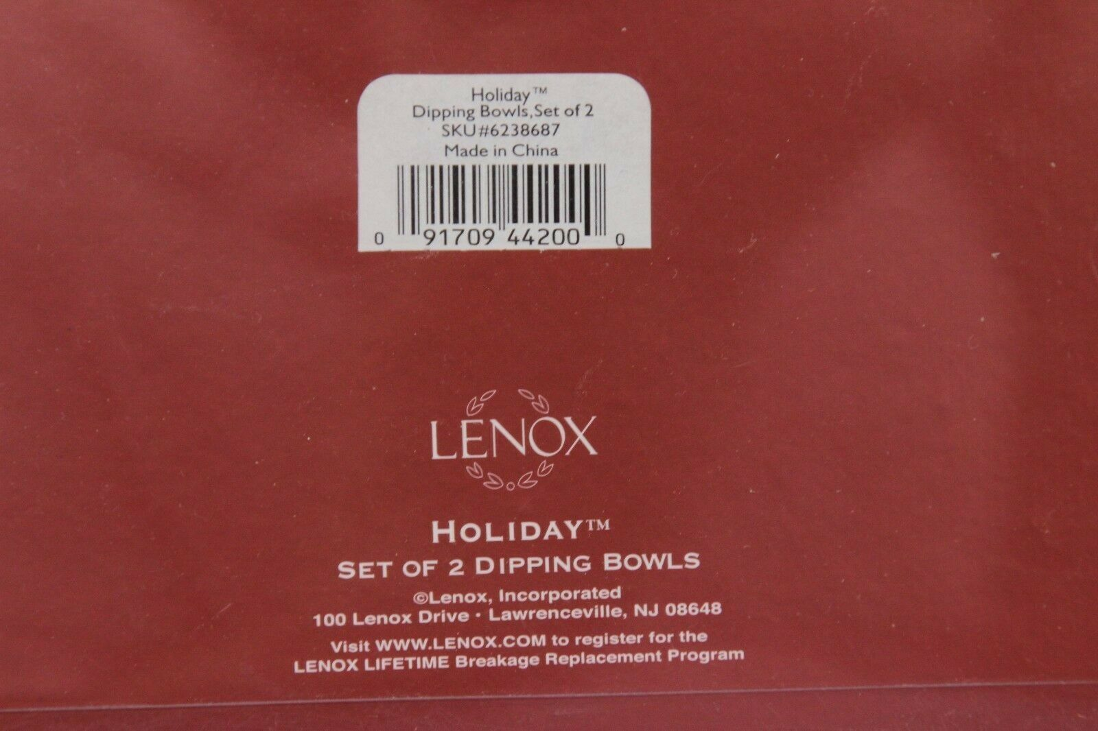 Lenox Holiday Dipping Bowls with 4 Spreaders image 5