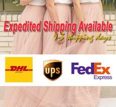 Women Girl Pink Tutu Skirt Princess Pink Midi Tulle Skirt 6 Layer Puffy Tutus image 6