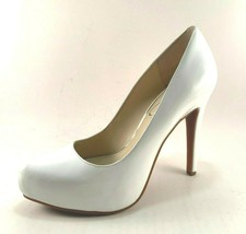 Jessica Simpson Parisah White Patent High Heel Platform Pumps - $85.00