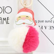 VOILEY® Merry Christmas Ornaments 1pcs Santa Claus Alloy Keychain Christ... - $2.84+