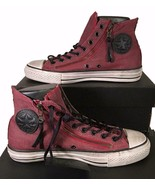Converse by John Varvatos Chuck Taylor Double Zip Hi Sneaker Red 150169C - $47.96