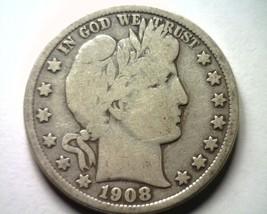 1908-D Barber Half Dollar Very Good / Fine VG/F Nice Original Coin Bobs Coins - $37.00