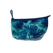 ULTA Blue Seafoam Plastic Tropical Cosmetics Travel Purse Bag New with Tags - $10.88